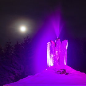 Ledová fontánka
