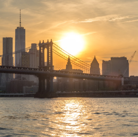 Západ slunce nad New Yorkem