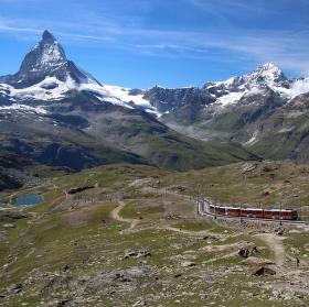 Gornergrat Bahn s výhledem na Matterhorn