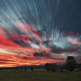 Malované nebe nad Brdy