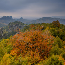 Podzim v Saském Švýcarsku