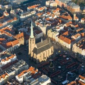 Plzeň z ptačí perspektivy
