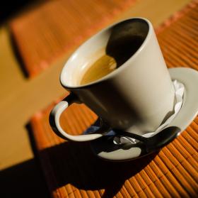 Kávička v pozdním odpoledni