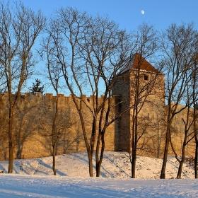 Měsíc nad hradem Veveří....