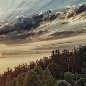 Západ slunka na Valašsku