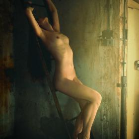 Dívka na žebříku