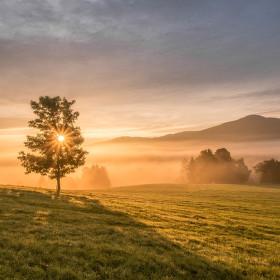 Východ slunce Křížový vrch, Jetřichovice-Rynartice