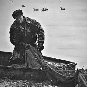 Rybář se sítí