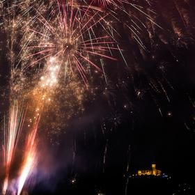 Novoroční ohňostroj Ústí nad Labem
