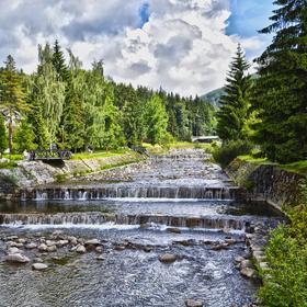 Špindlerův Mlýn pohled na řeku Labe