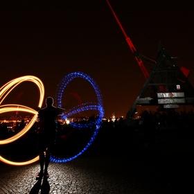 Světelná show a metronom