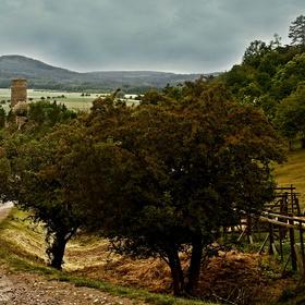 pohled na krajinu přes hrad Žebrák