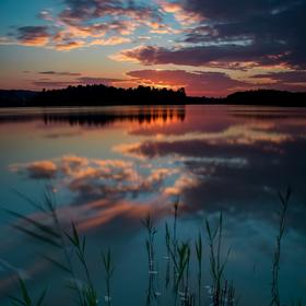 Západ slunce v Rybništi