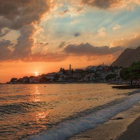 Západ slunce v Gradacu