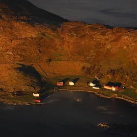 Norsko Lofoty posledni paprsky