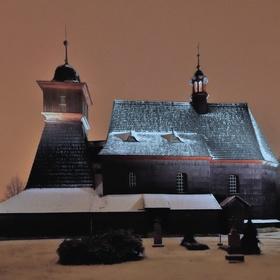 Dřevěný kostel.sv.Kateřiny,Ostrava - Hrabová