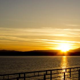 Zapad slunce nad ostrovem Krk