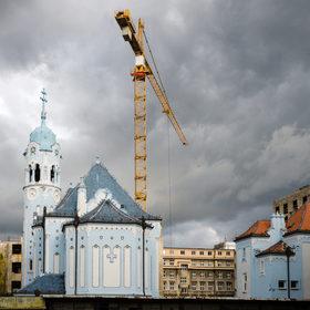Štyri obdobia Bratislavy v jednej fotke.