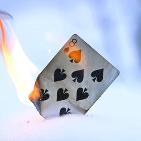 Karta v plamenech