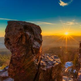 Západ slunce na Plešivci