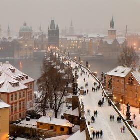 Trochu zimní Karlův most