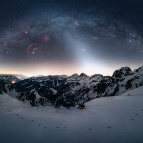 Nashle zimní noční obloho
