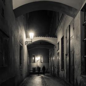 Noční Praha.