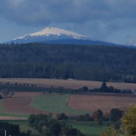 První sníh v Krkonoších