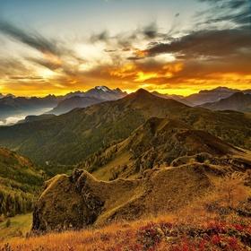 Po západu slunce na Passo di Giau