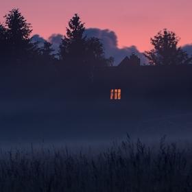 Mlhavý večer na Jizerce...