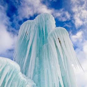 Ledová fontána - Livigno