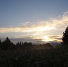 Ráno v Beskydech
