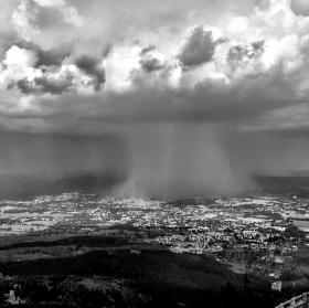 Liberec pod deštěm