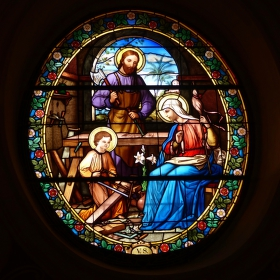 Vitráž od sv. Mikuláše