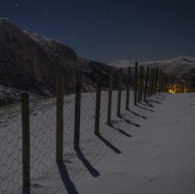 Rosendal v noci