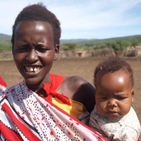 Masajka s dítětem.