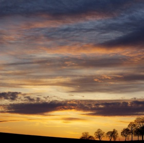 Jeden dubnový západ slunce