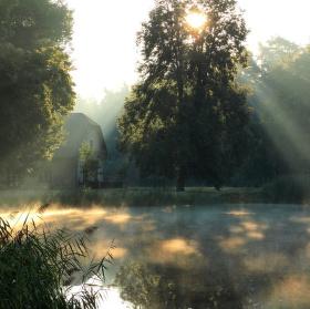 Svítání u Bělečského rybníka