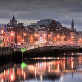 Pohled z O'Connell Bridge