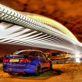 Honda Accord u Trojského mostu