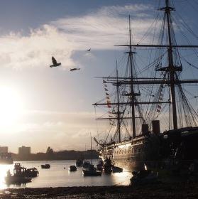 HMS WARRIOR 1860  PORTSMOUTH VB