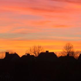 Barevný západ slunce