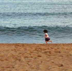 Na pláži ...
