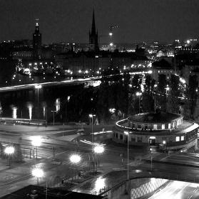 Noční Stockholm