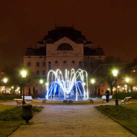 Košické divadlo s fontánou