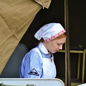 Krankenschwester am Mittagsruhe