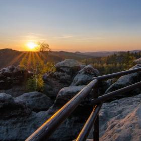 západ slunce z Vilemíniny stěny