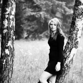 pod lesem --autoportrét