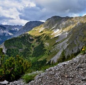 Pohoří Hochschwab - cesta na vrchol
