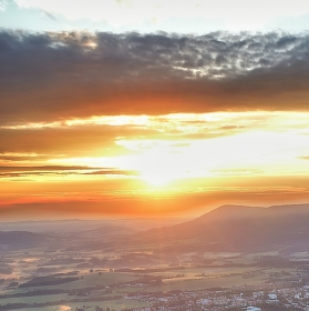 Východ slunka z Javorníka